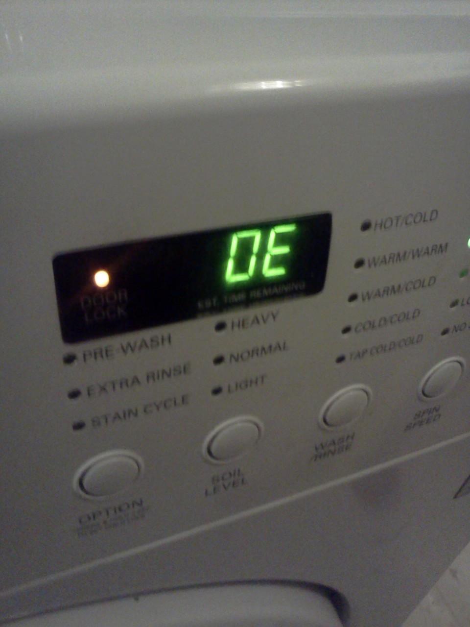 Стиральная машина ошибка de что делать