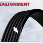 Miss alignment Worn Washing machine belt